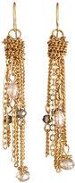 Carol Dauplaise Gold-Tone Fringe Earrings