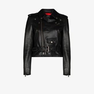 Balenciaga Fitted Leather Biker Jacket