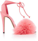 Brian Atwood Melly Fur Sandal