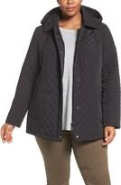 Calvin Klein Plus Size Women's Water Resistant Diamond Quilted Jacket