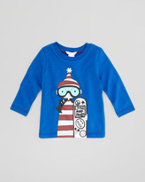 Little Marc Jacobs Long-Sleeve Snowboard Printed Tee, Sizes 2-5