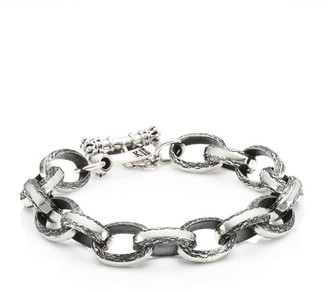 King Baby Studio Armor Sterling SIlver Chain Link & Toggle Bracelet