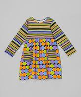 Flap Happy Black Luna Dots Babydoll Dress - Infant, Toddler & Girls