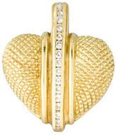 Judith Ripka Diamond Heart Pendant
