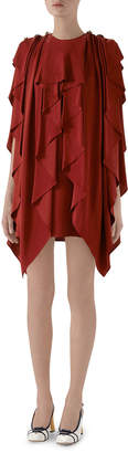 Gucci Ruffled Silk Sable Dress