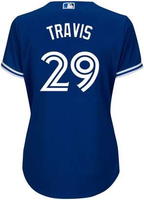 Majestic Devon Travis Toronto Blue Jays MLB Cool Base Replica Away Jersey