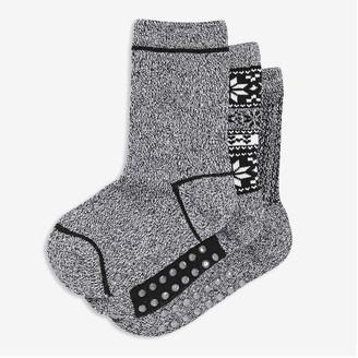 Joe Fresh Toddler Boys' 3 Pack Crew Socks, Black (Size 3-5)