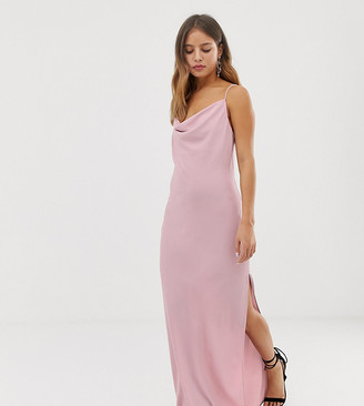 New Look maxi dress with cowl neck in lilac-Purple