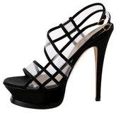 Saint Laurent Satin Slingback Sandals