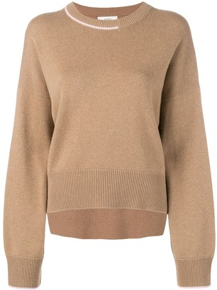 Pringle contrast cashmere jumper