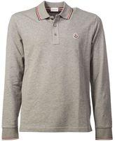 Moncler Long Sleeve Logo Polo Shirt