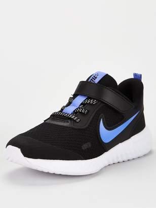 Nike Revolution 5 Glitter Childrens Trainers - Black/Blue