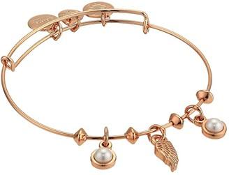Alex and Ani Angel Wing Pearl Multi Charm Bangle Bracelet (Shiny Rose Gold) Bracelet