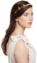 Jennifer Behr Crystal Flower & Golden Leaf Headband