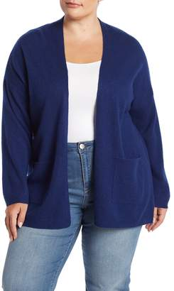 Magaschoni M Solid Pocketed Cashmere Cardigan (Plus Size)
