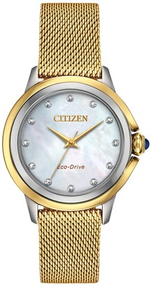 Citizen Eco-Drive Women's Ceci Diamond Accent Goldtone Watch