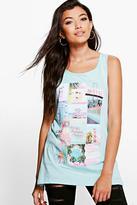 Boohoo Lucy Polaroid Jersey Vest