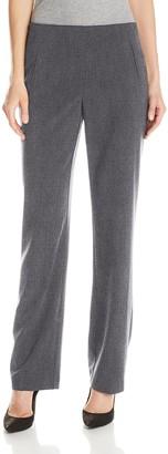 Briggs New York Women's Hollywood Waist Straight-Leg Pull-On Pant