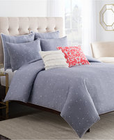 Cupcakes And Cashmere Chambray Dot King Duvet Cover