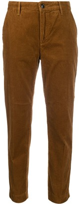 Closed corduroy slim-fit trousers