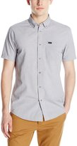 RVCA Men's That'll Do Crosses Short Sleeve Woven Shirt, Grey