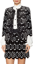 Anna Sui Women's Faux Fur Paneled Jacket