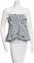 Holly Fulton Silk Printed Crop Top w/ Tags