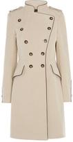 Karen Millen Cream Reefer Coat