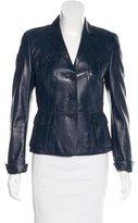 Akris Punto Button-Up Leather Jacket