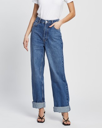 Topshop High-Waisted Oversized Mom Jeans