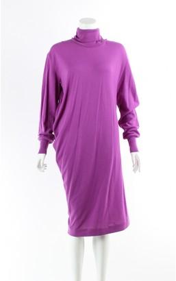 Balenciaga Purple Wool Dress for Women