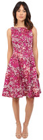 Maggy London Japanese Blossom Printed Cotton Fit and Flare Dress