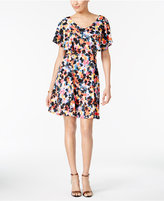 NY Collection Flutter-Sleeve A-Line Dress
