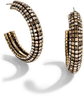 J.Crew Crystal Chain Hoop Earrings