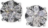 Effy Diamond Cluster Stud Earrings in 14k White Gold (1-1/8 ct. t.w.)