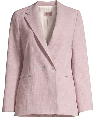 Rebecca Taylor Rose Plaid Suit Jacket