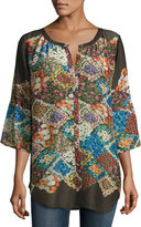 Johnny Was Tempo Button-Front Georgette Top, Plus Size
