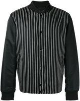 Rag & Bone striped bomber jacket - men - Cotton/Calf Leather/Nylon/Wool - L