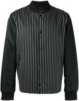Rag & Bone striped bomber jacket - men - Cotton/Calf Leather/Nylon/Wool - S
