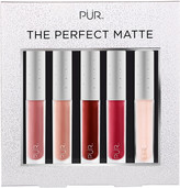 PUR Cosmetics The Perfect Matte 5 Pc Velvet Matte Liquid Lipstick Collection w/ Lip Oil