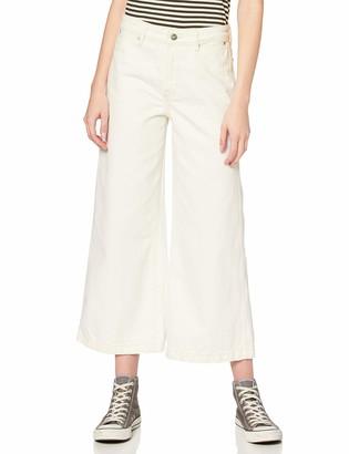 Pepe Jeans Women's Groove Ecru Flared Jeans