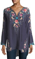 Johnny Was Butterfly Winter Embroidered Blouse, Plus Size