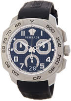 Versace Men's Dylos Chronograph Leather Strap Watch, 44mm