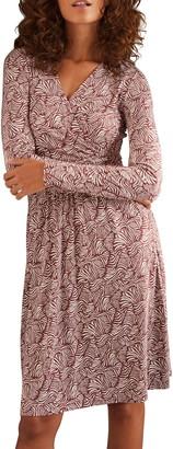 Boden Layla Wrap Front Long Sleeve Jersey Dress