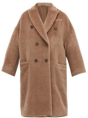 Brunello Cucinelli Double-breasted Wool-blend Coat - Womens - Light Brown