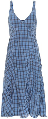 Acne Studios Checked midi slip dress