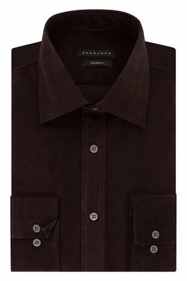Sean John Men's Dress Shirts Regular Fit Solid