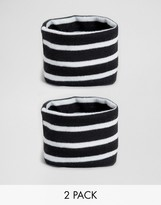 Asos Pack of 2 Jersey Stripe Bracelets Co-Ord