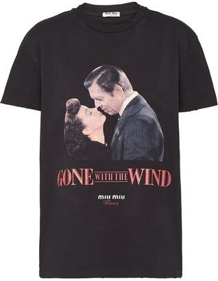 Miu Miu Kisses straight-fit T-shirt