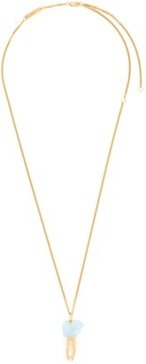Bjorg 'Blue of the Sky' topaz 18k gold-plated silver pendant necklace